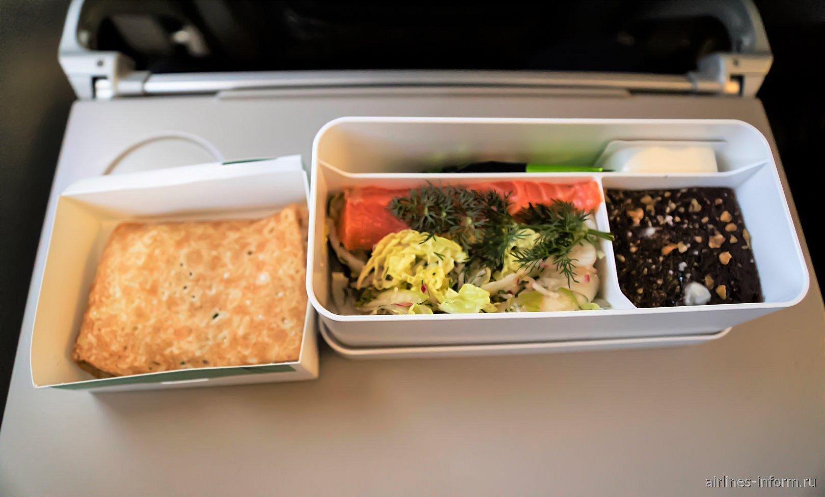 Бортовое питание на рейсе Москва-Цюрих авиакомпании SWISS