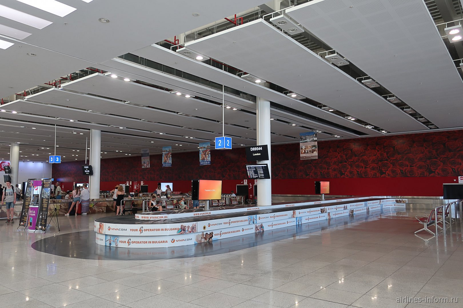 Лента выдачи багажа в аэропорту Бургас
