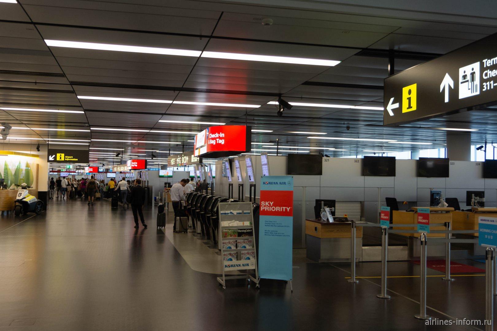 Зона регистрации на рейсы в терминале 3 аэропорта Вена Швехат