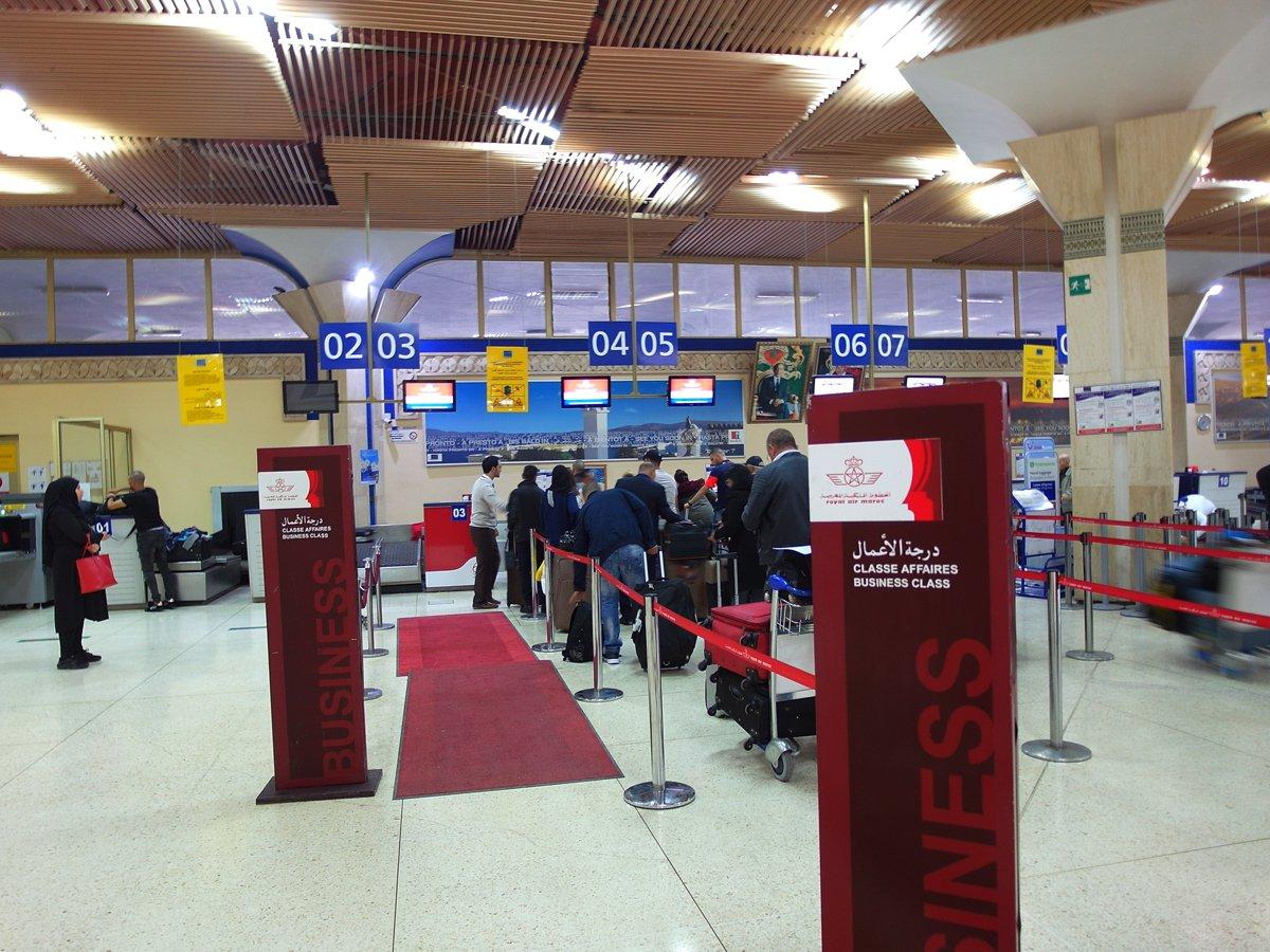 Стойки регистрации в аэропорту Агадир Аль-Массира