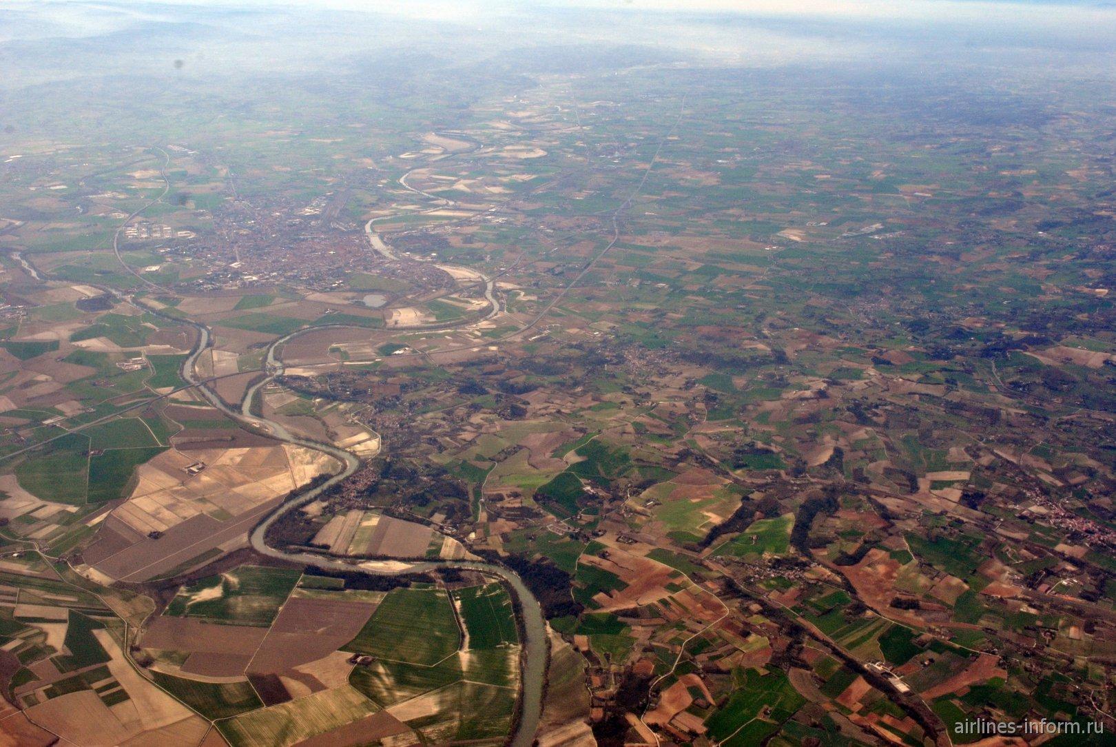 Долина реки Танаро на севере Италии