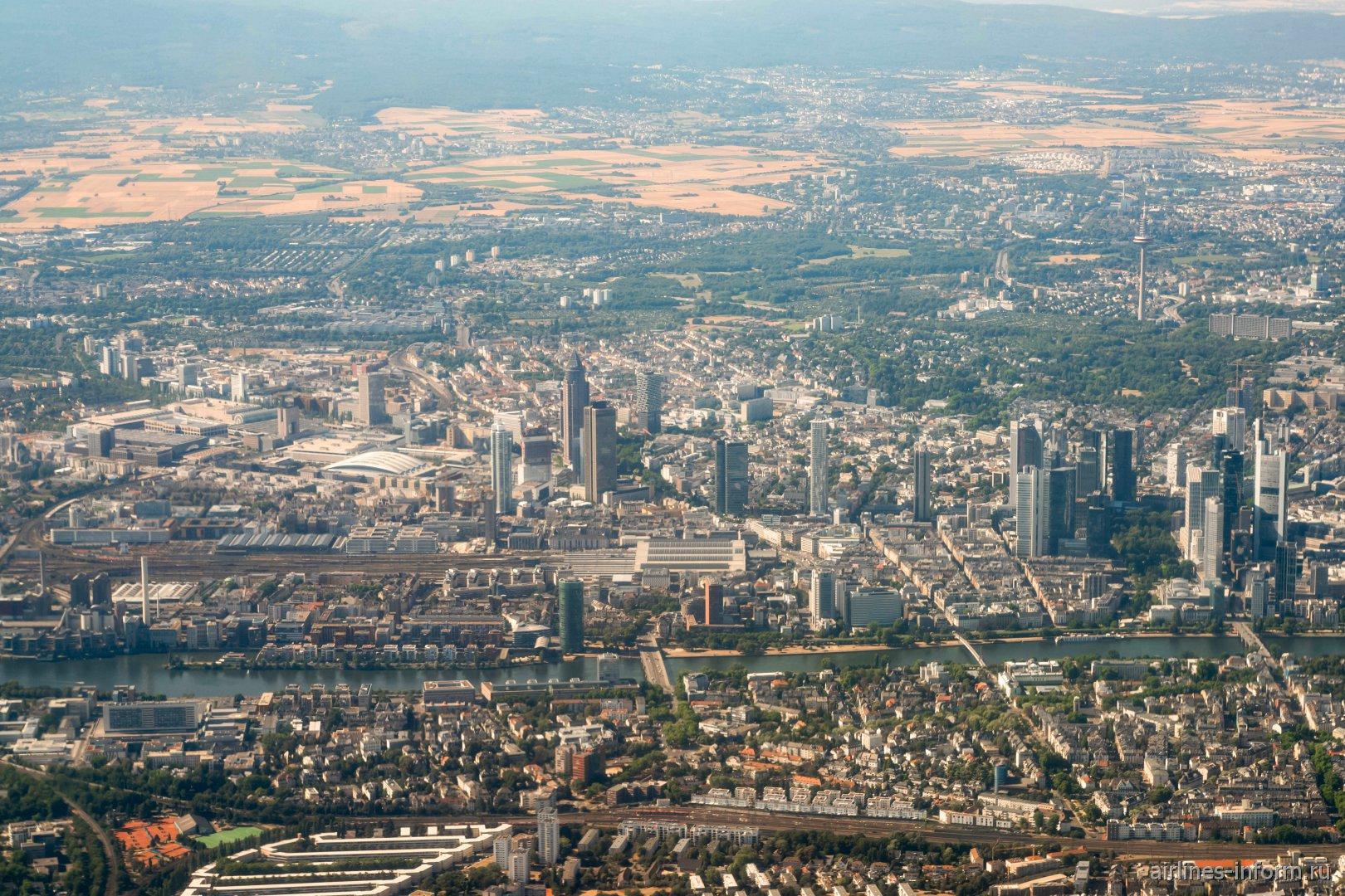 Центр города Франкфурт-на-Майне в Германии