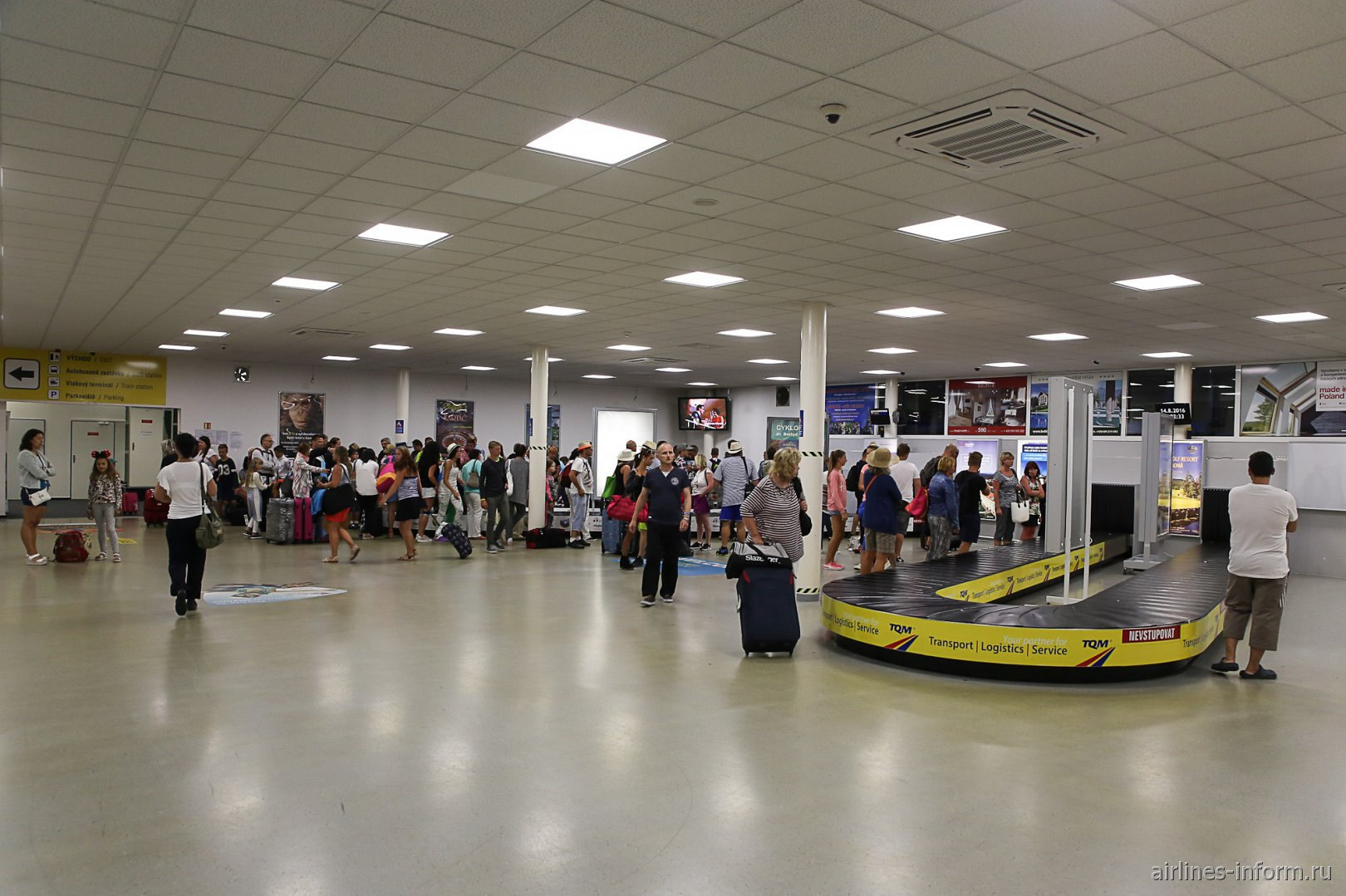 Зал выдачи багажа в аэропорту Острава Леош Яначек