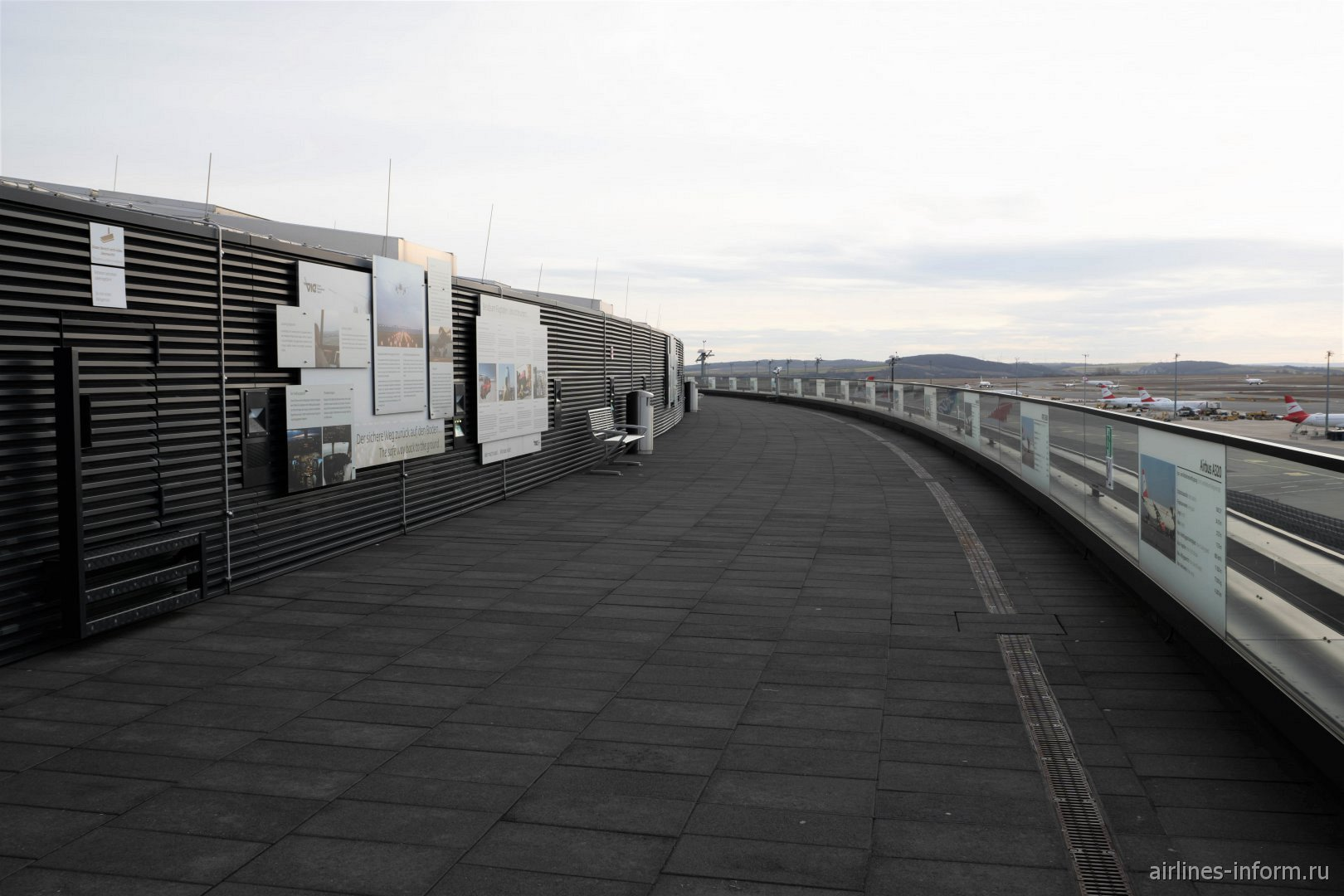 Смотровая площадка на крыше терминала 3 аэропорта Вена Швехат
