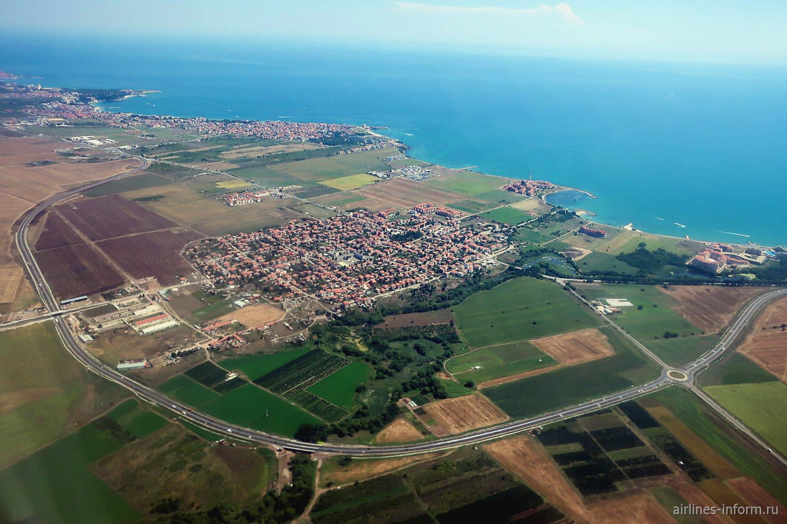 Поселок Ахелой на черноморском побережье Болгарии
