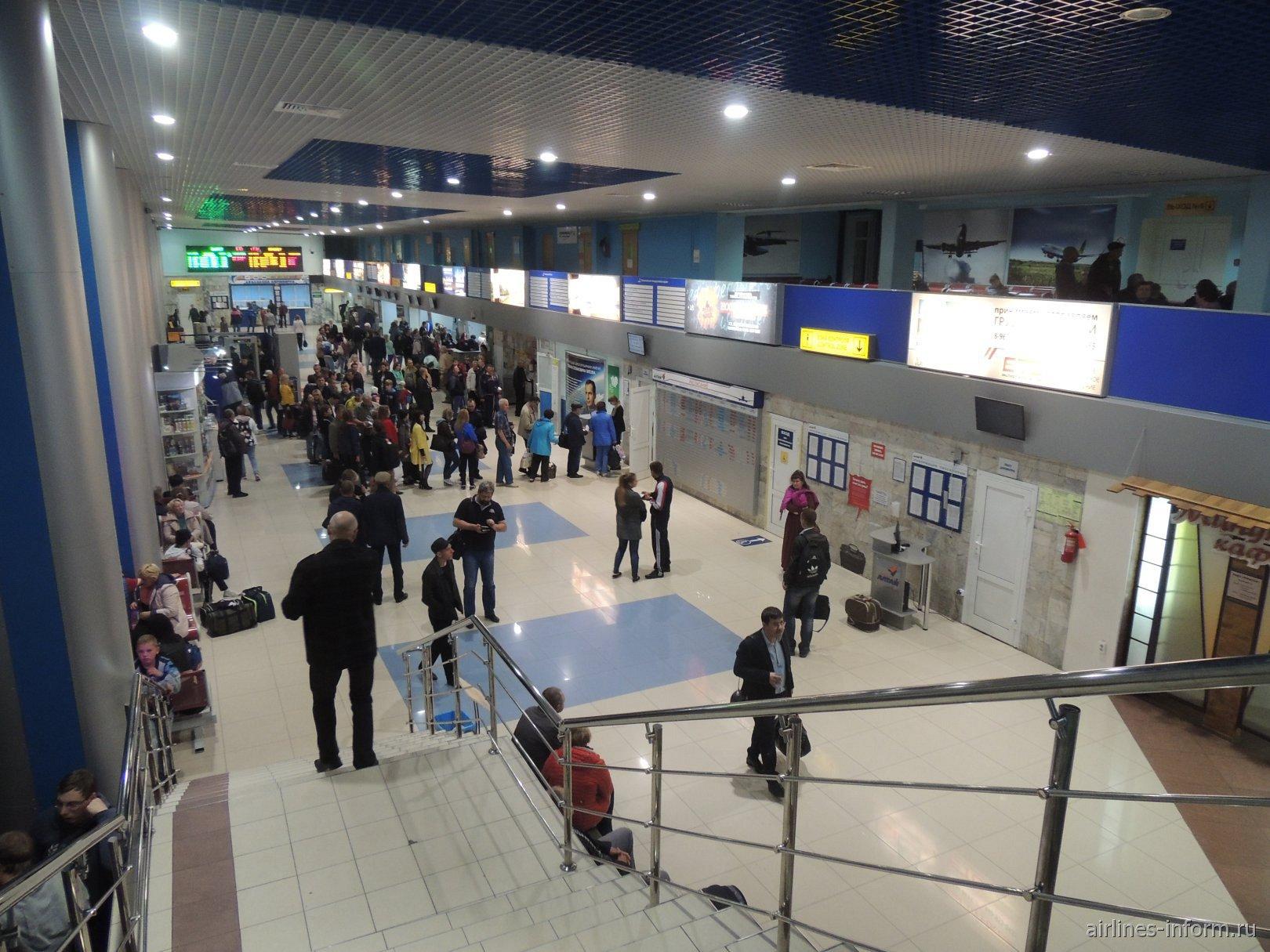 Общий зал аэровокзала барнаульского аэропорта