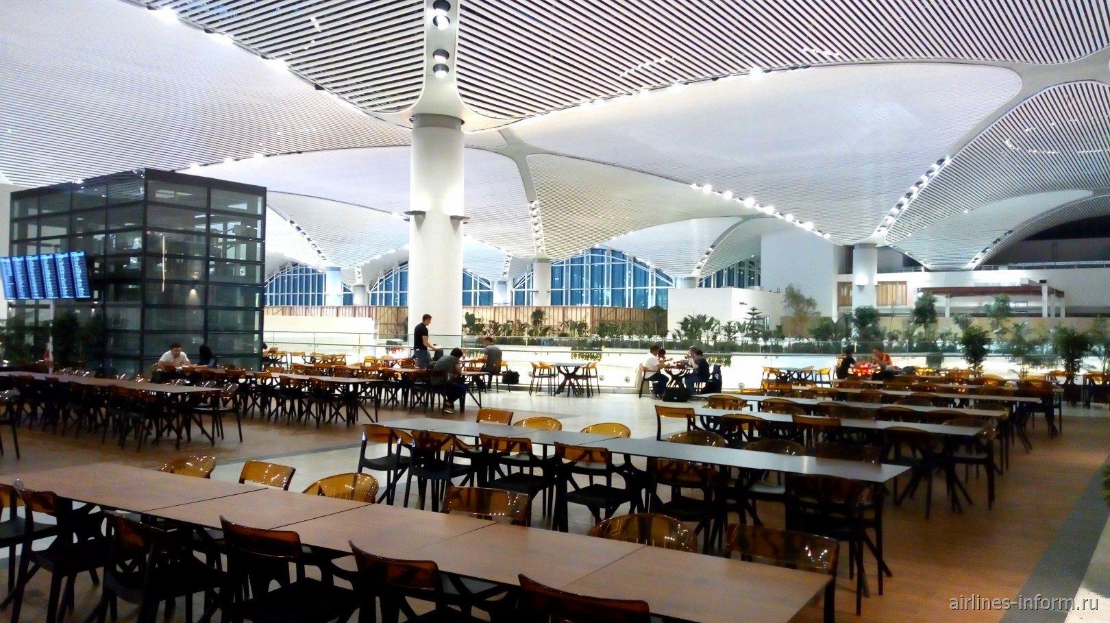 В пассажирском терминале аэропорта Стамбул Новый