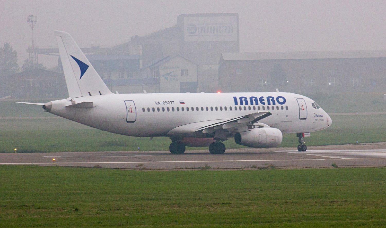 Авиалайнер Суперджет-100 RA-89077 авиакомпании ИрАэро