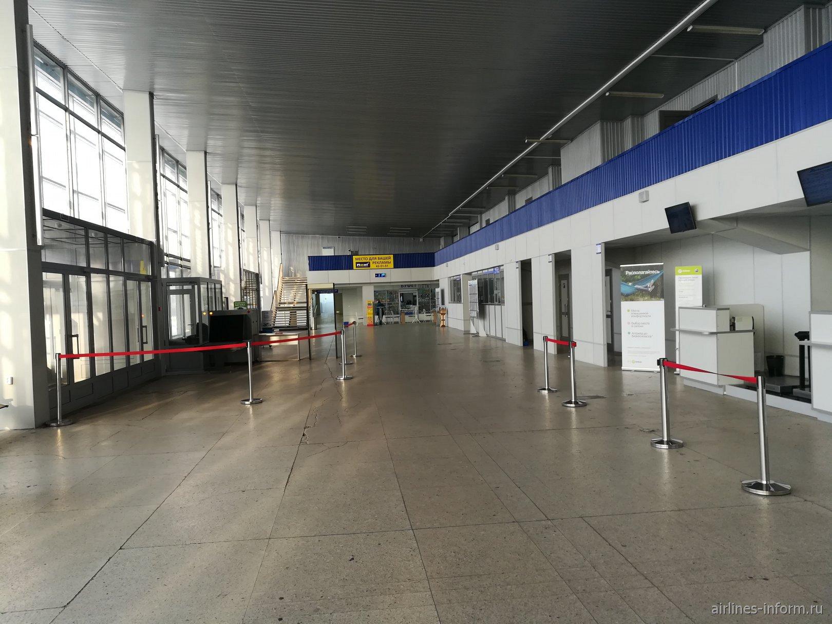 В аэровокзале аэропорта Братск
