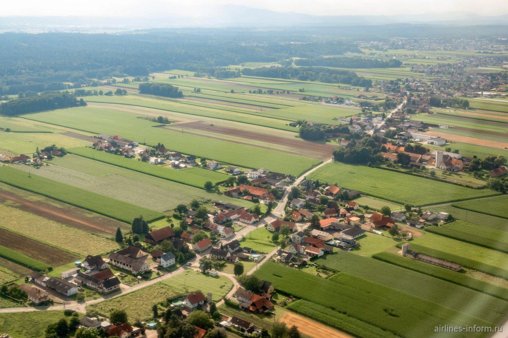 Деревушки в Австрии рядом с городом Грац