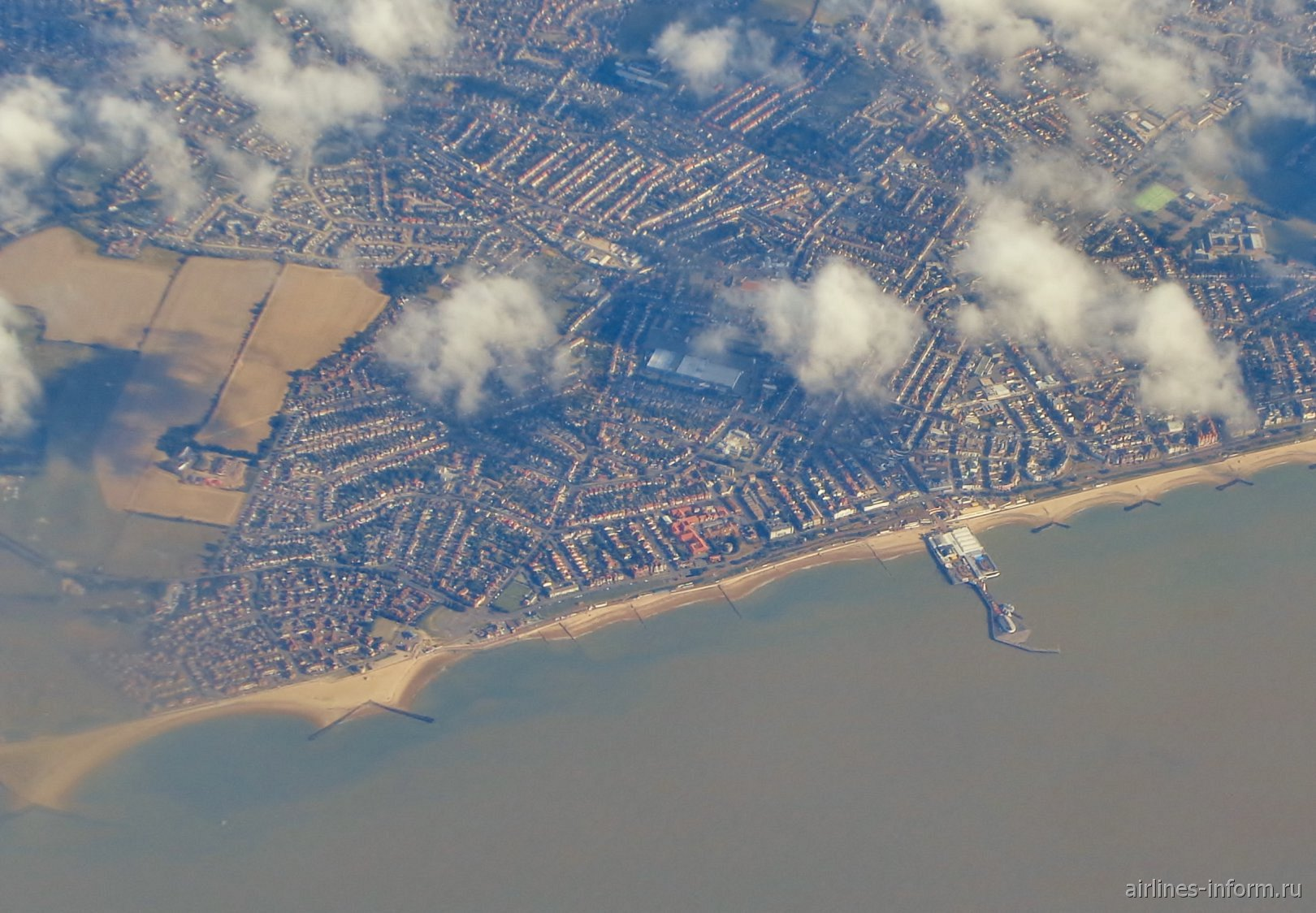 Городок Clacton-on-Sea в Англии