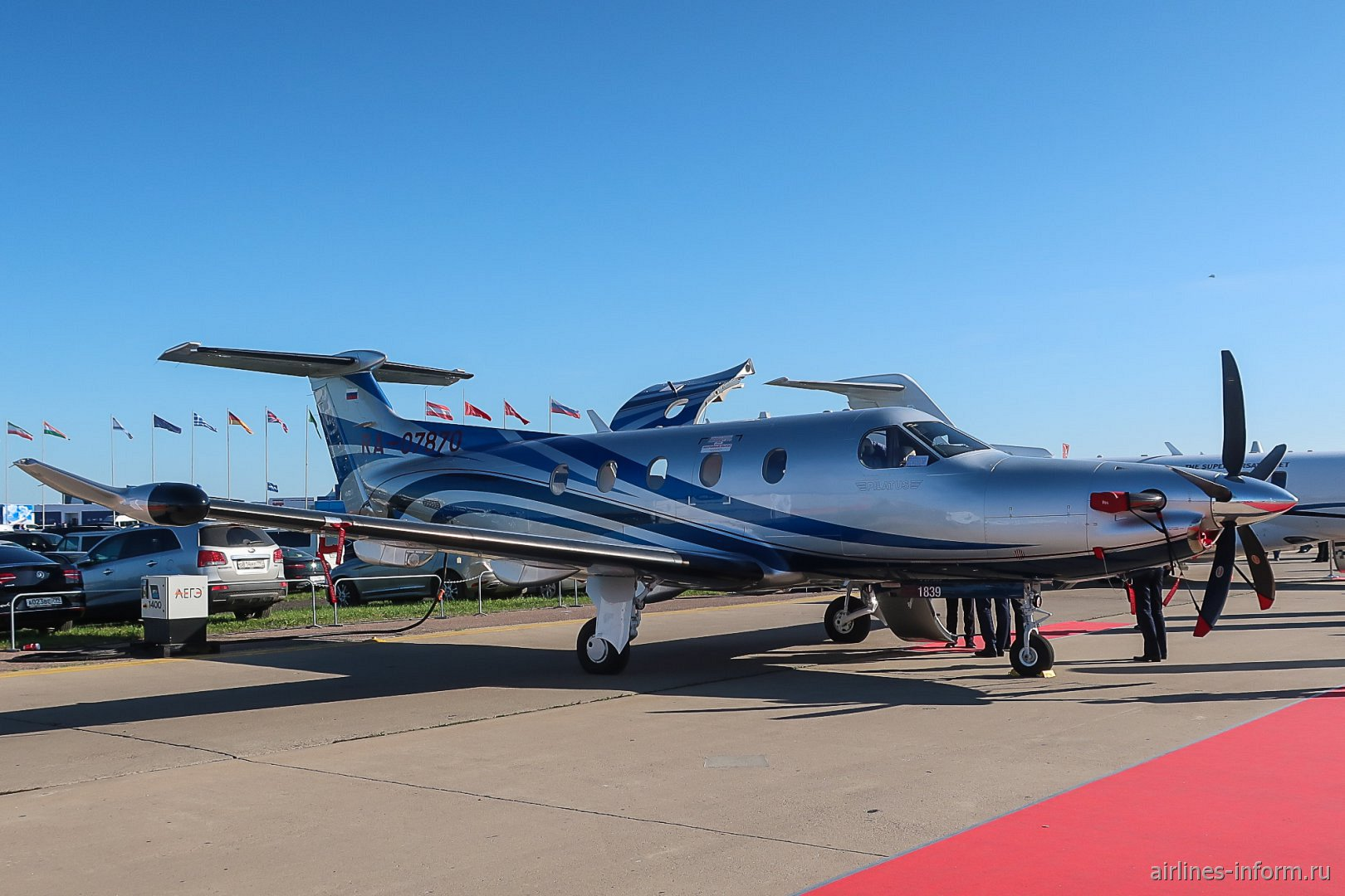Самолет Pilatus PC-12 на авиасалоне МАКС-2019