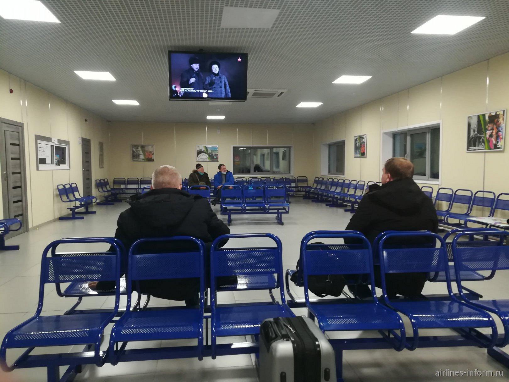 Зал ожидания в аэропорту Усть-Илимск