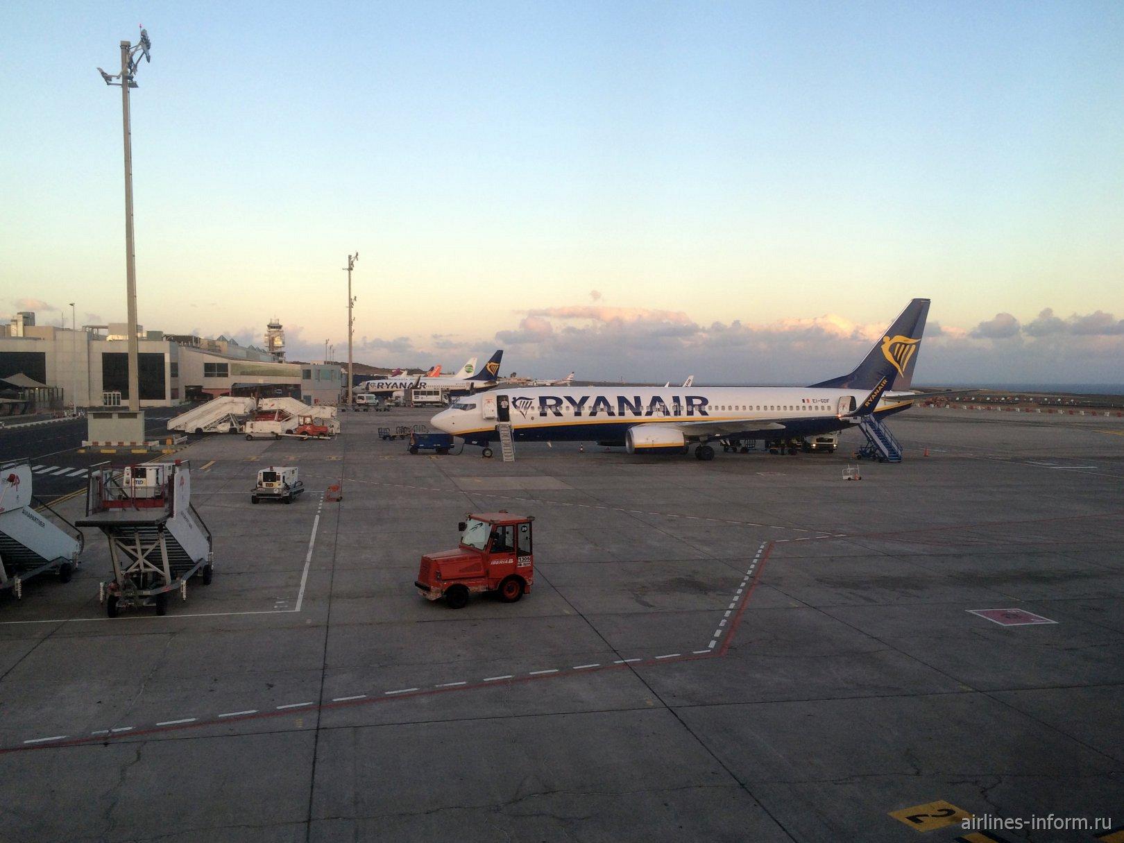 Перрон аэропорта Тенерифе Южный