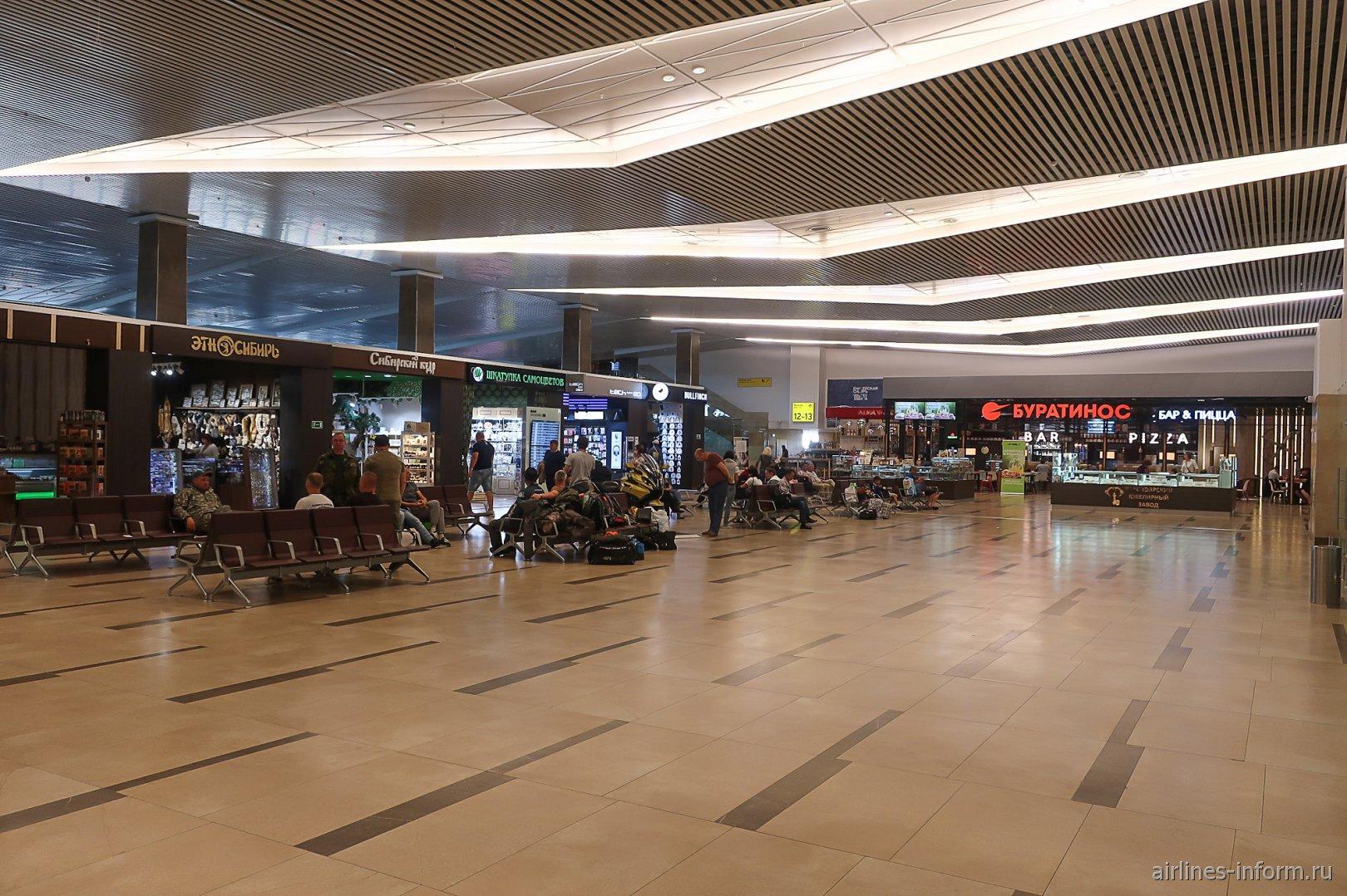 Чистая зона внутренних вылетов аэропорта Красноярск