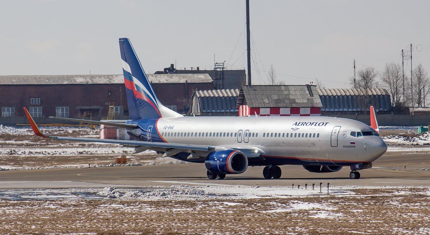 Самолет Boeing 737-800 VQ-BWE авиакомпании