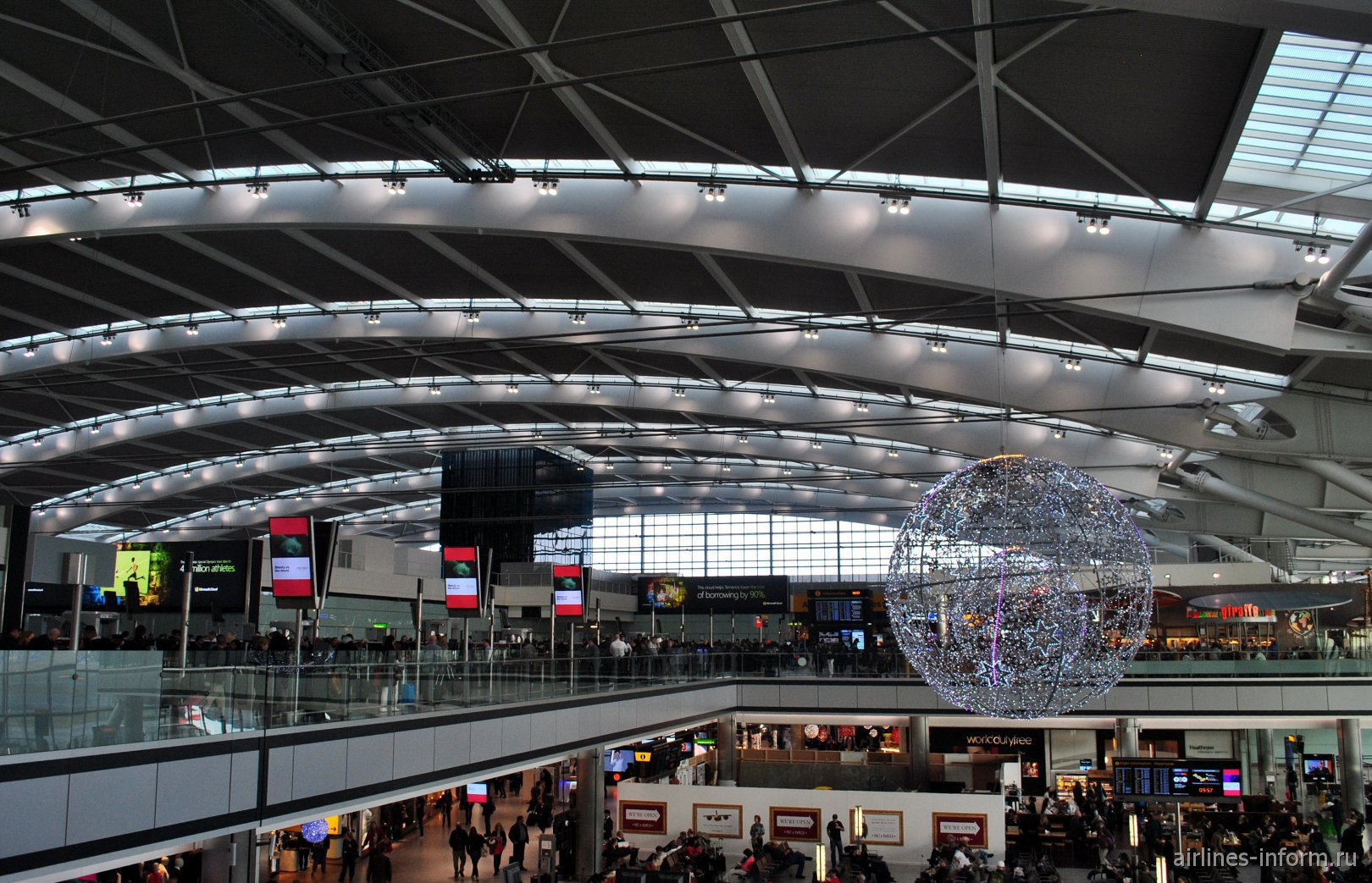 Верхний ярус терминала Т5А аэропорта Лондон Хитроу