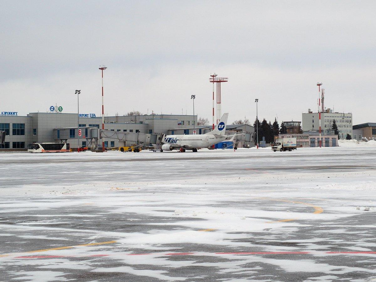 На перроне аэропорта Уфа