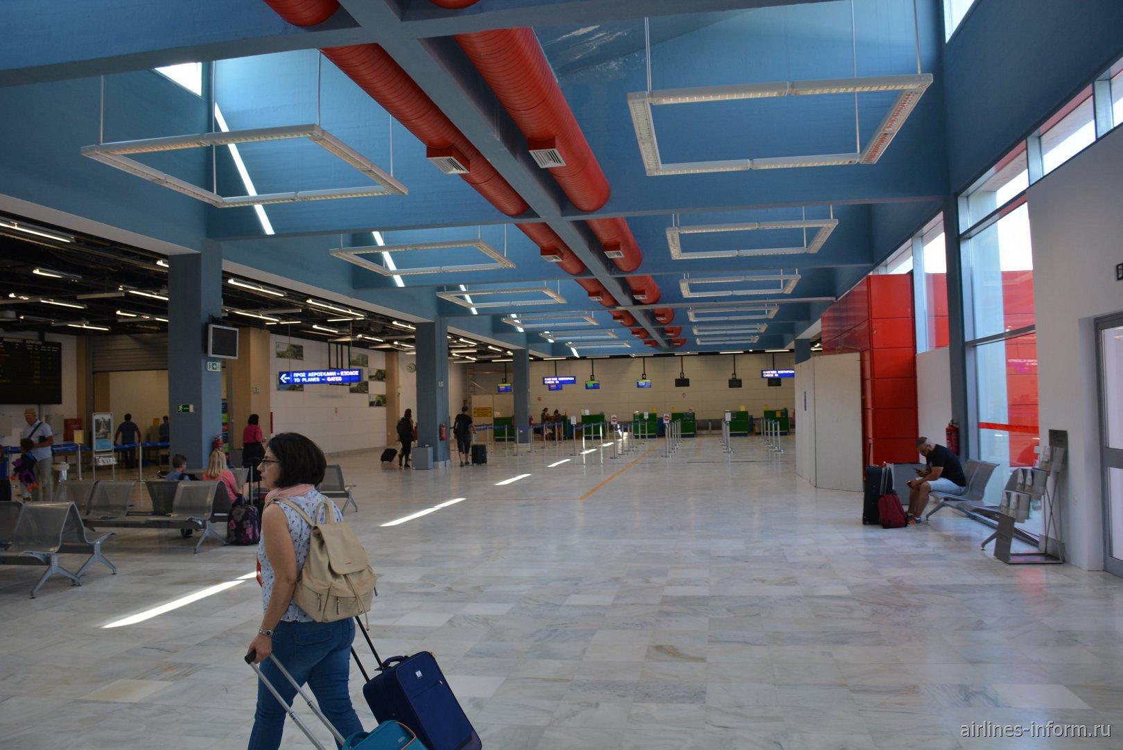 В аэровокзале аэропорта Превеза Актион