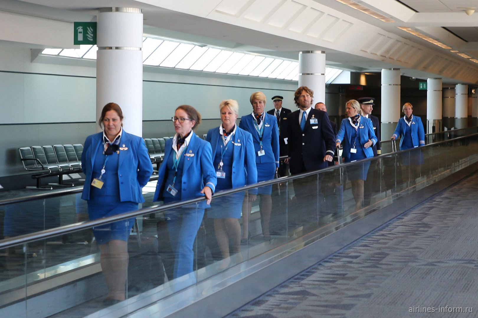 Экипаж самолета Боинг-787-9 авиакомпании KLM