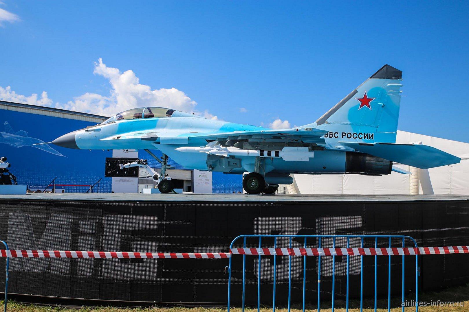 Истребитель МиГ-35 на авиасалоне МАКС-2017