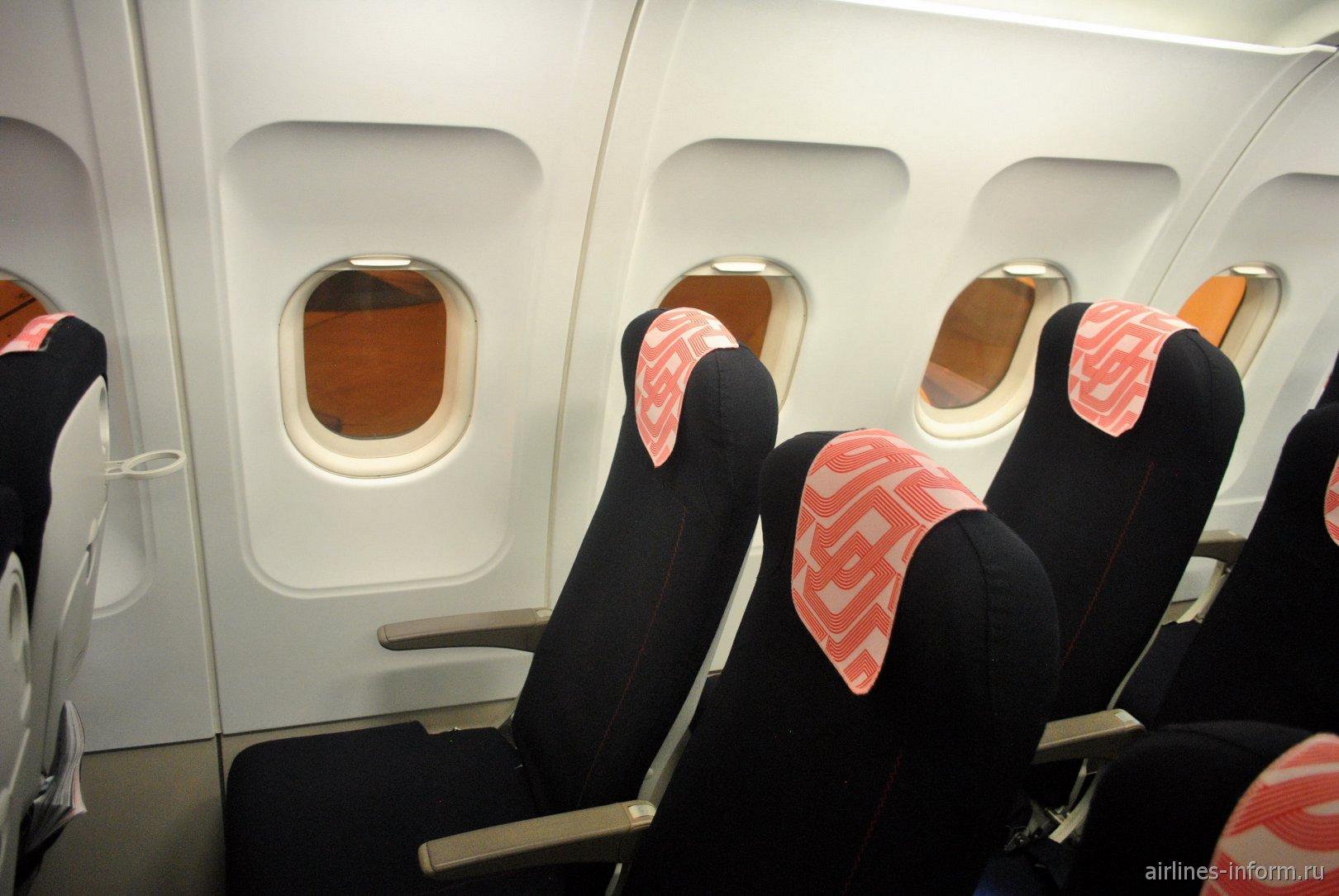 Пассажирские места в самолете Airbus A318 авиакомпании Air France