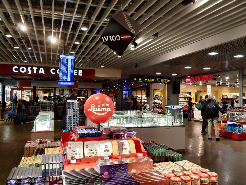 Магазин Duty Free в аэропорту Рига
