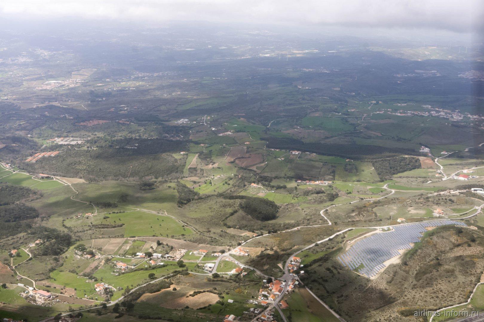В полета над Португалией в окрестностях Лиссабона
