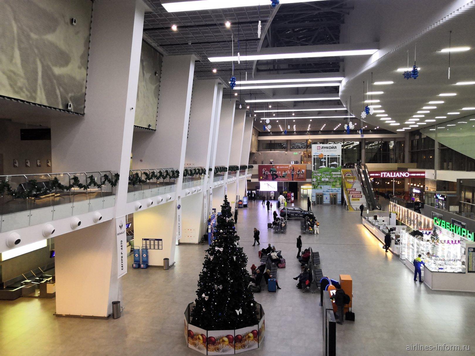 В пассажирском терминале аэропорта Пермь Большое Савино