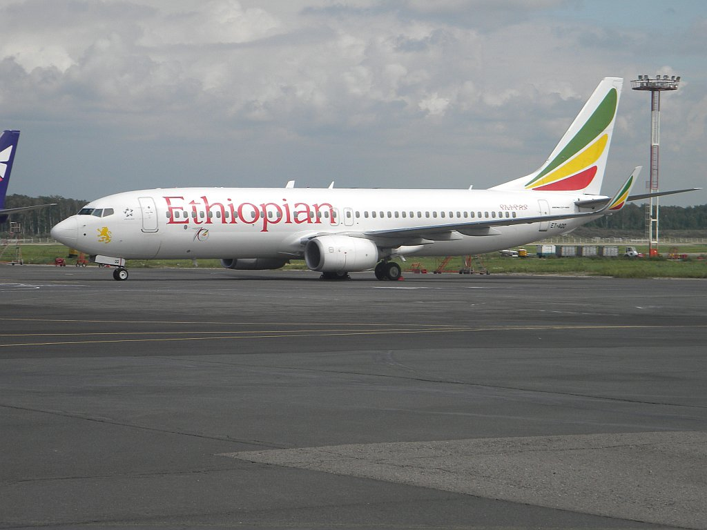 Boeing 737-800 ET-AQQ авиакомпании Ethiopian Airlines в аэропорту Домодедово