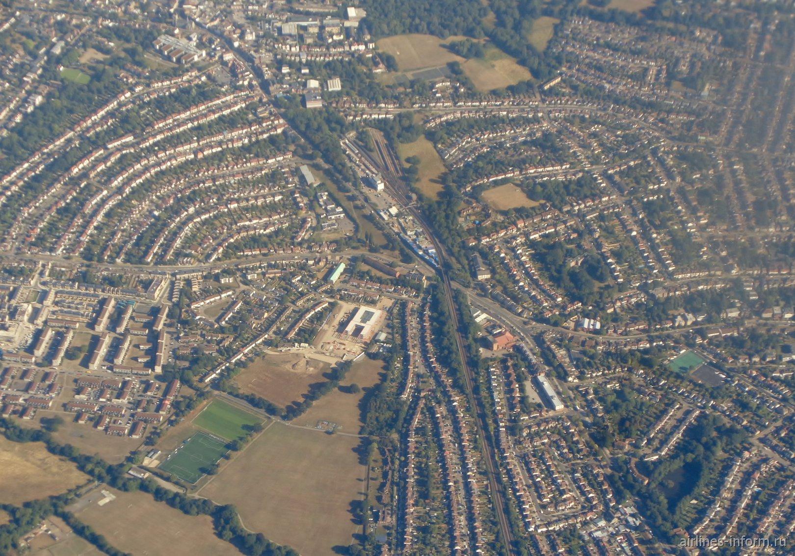 Жилые кварталы в окрестностях Лондона