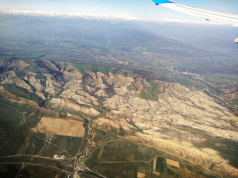 В полете над Грузией