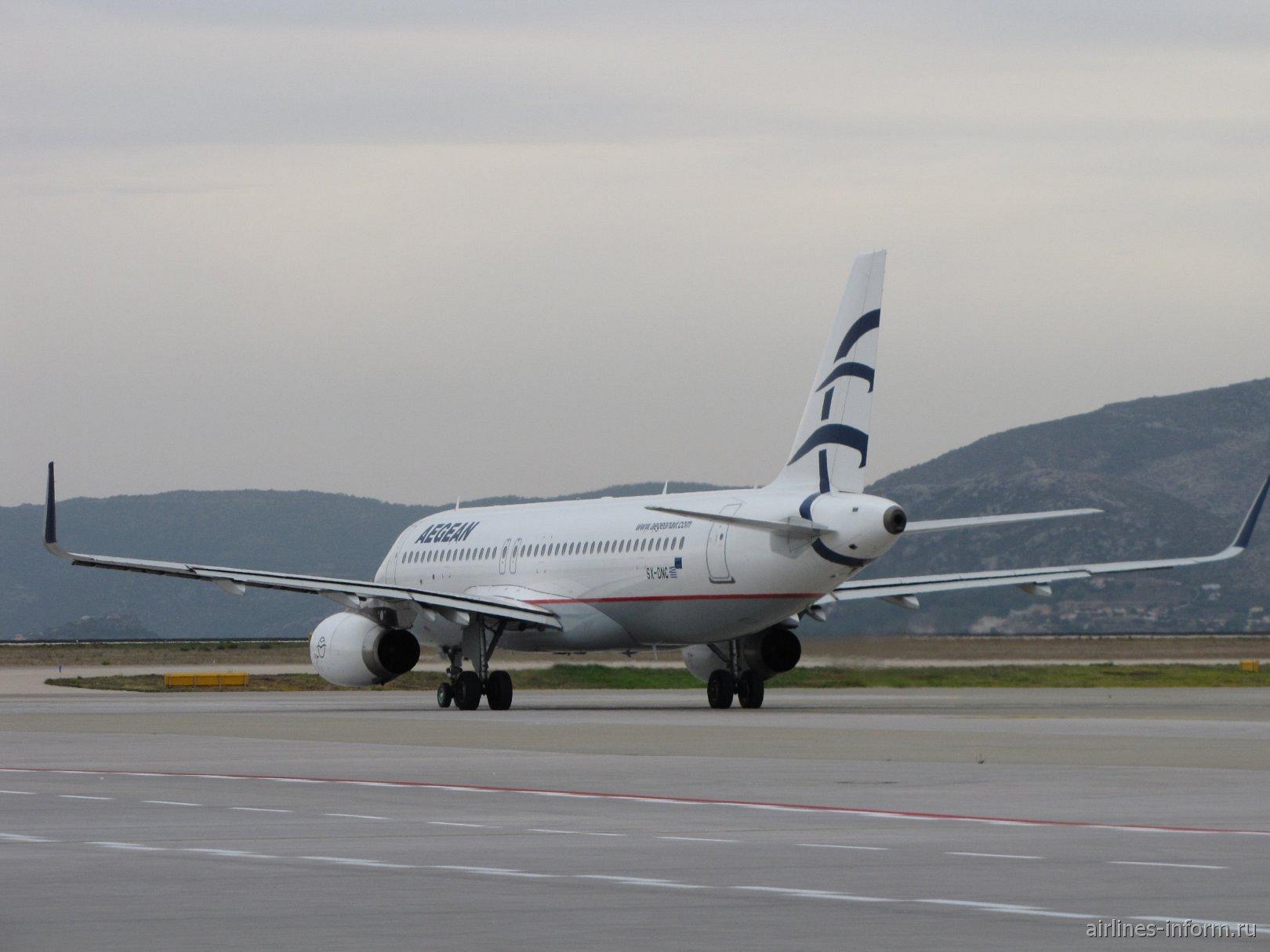Airbus A320 Эгейских авиалиний в аэропорту Афин
