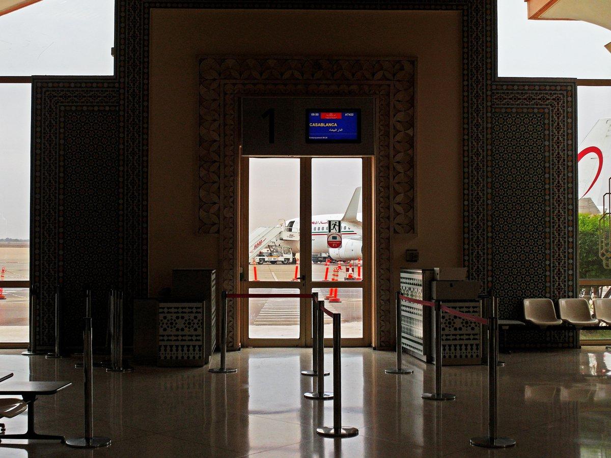 Выход на посадку в аэропорту Агадир Аль-Массира
