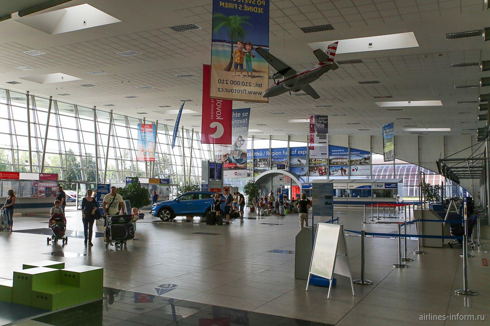 В пассажирском терминале аэропорта Острава