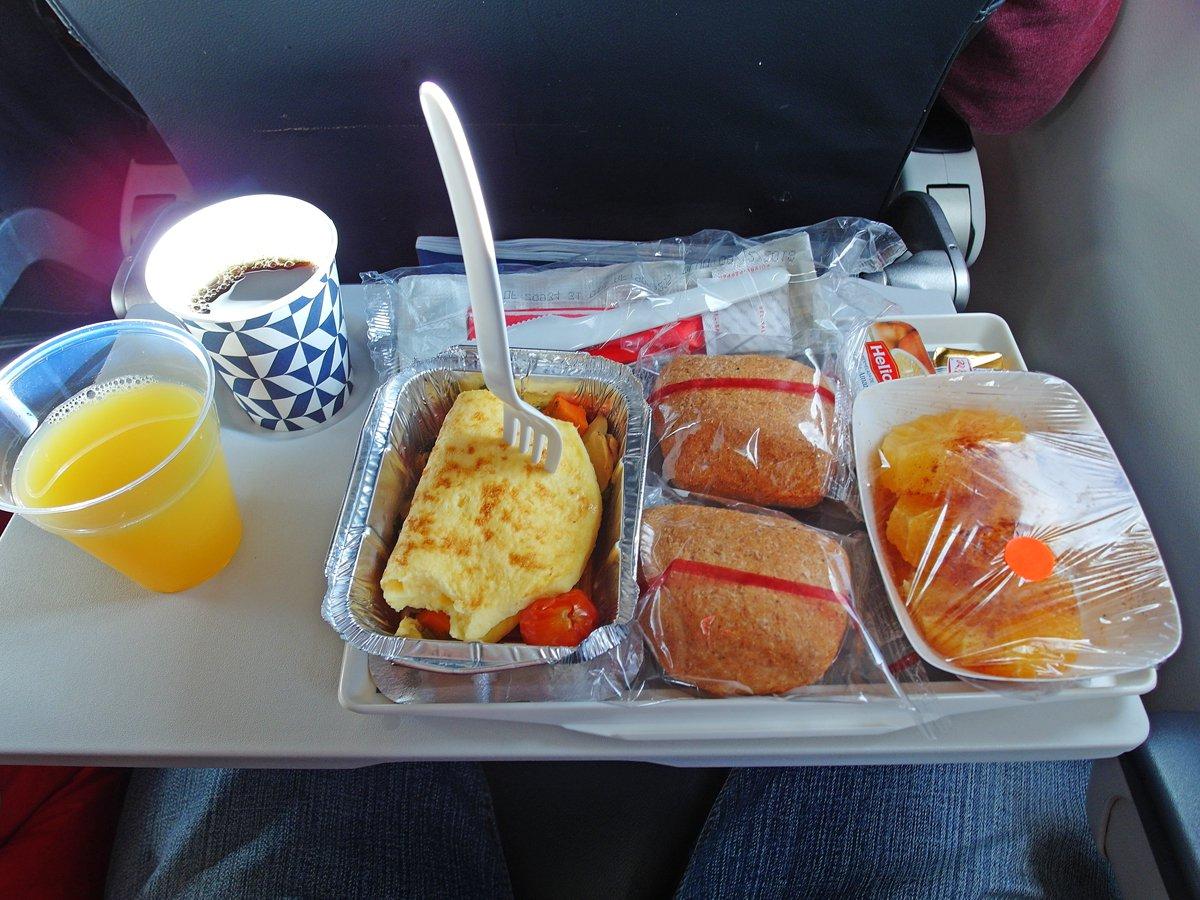 Бортпитание на рейсе Касабланка-Париж авиакомпании Air France