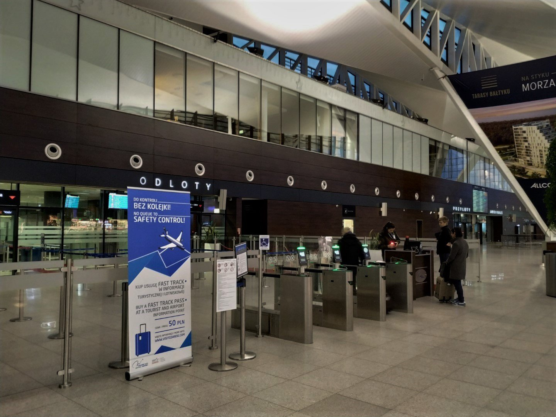 Проход в зону вылетов в аэропорту Гданьск