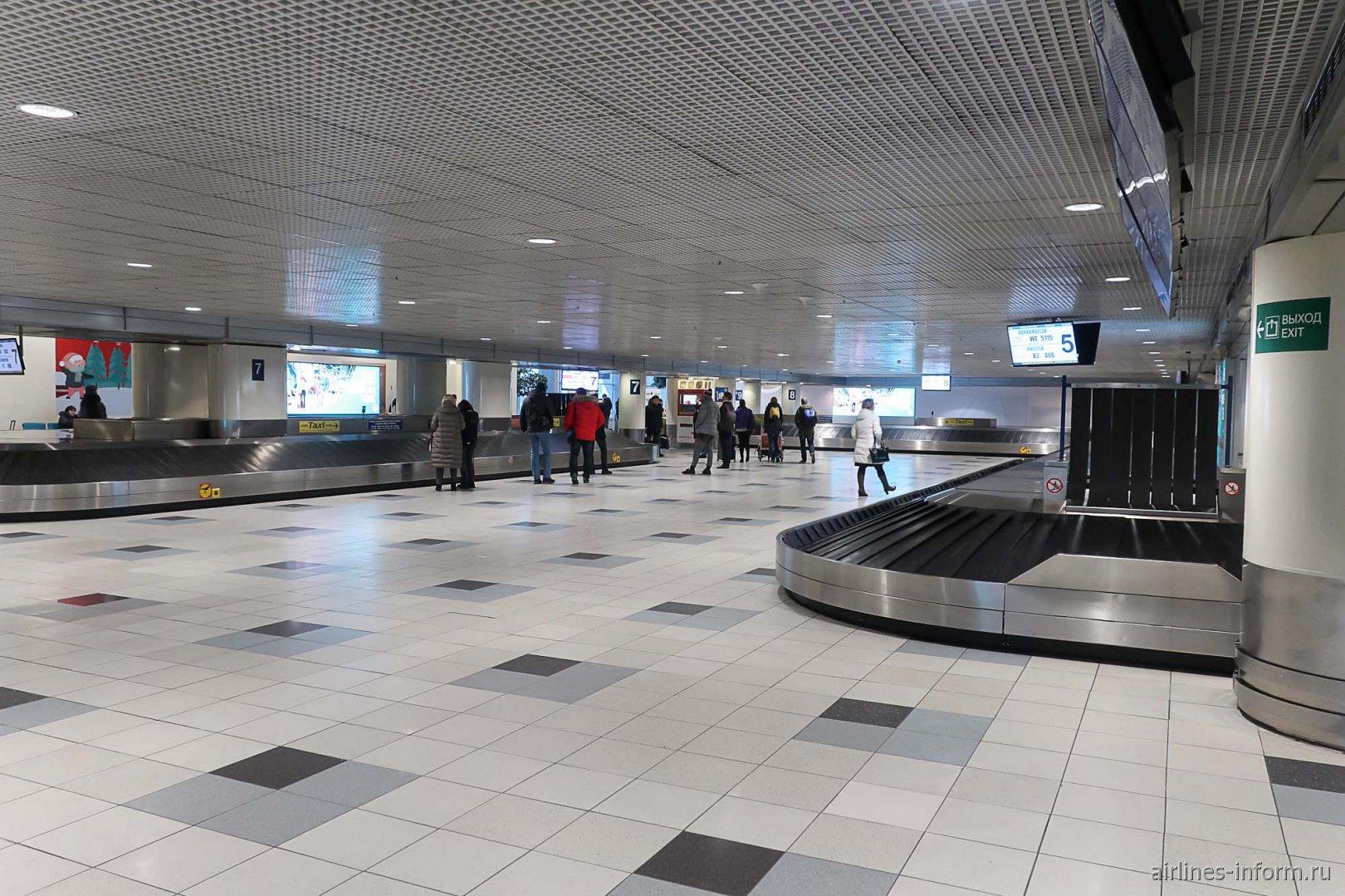 Зал выдачи багажа внутренних авиалиний в аэропорту Домодедово