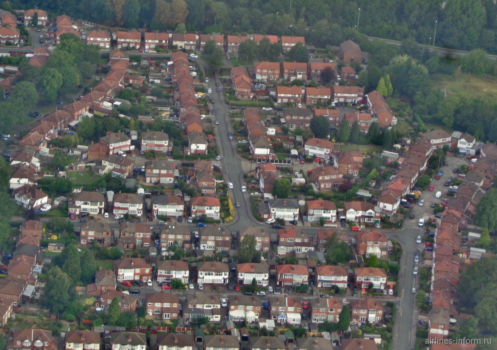 Жилые дома в пригороде Манчестера