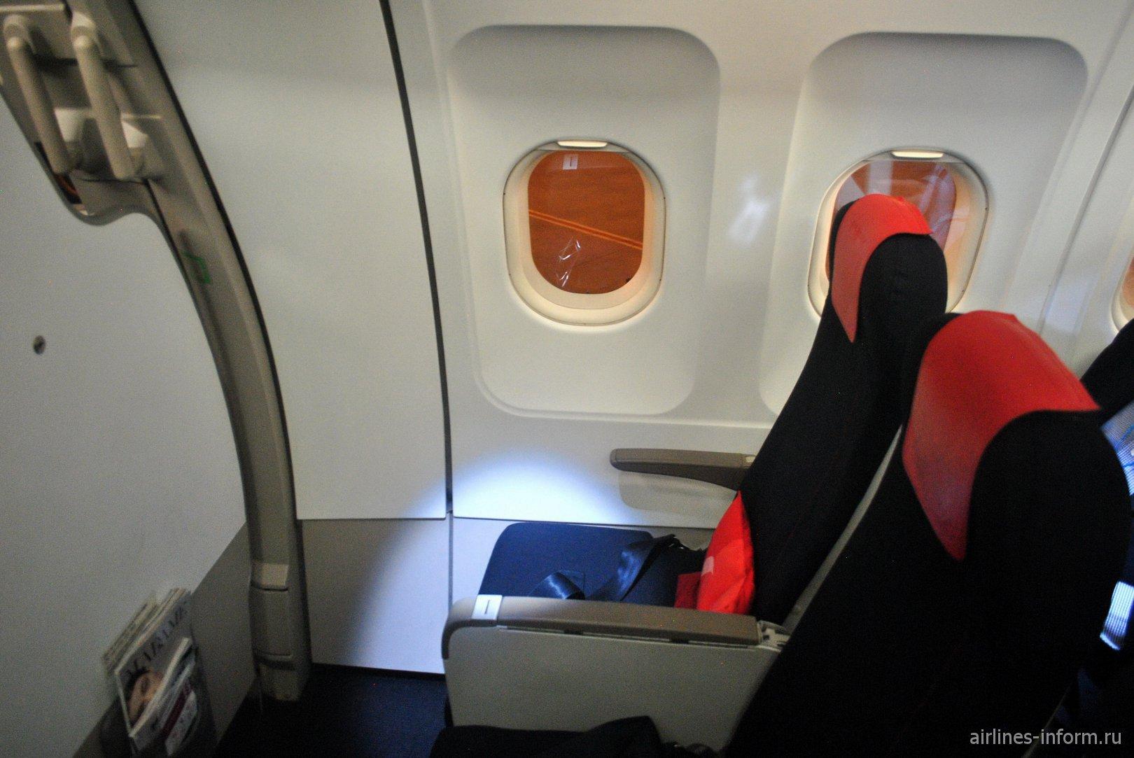 Места бизнес-класса в Airbus A318 авиакомпании Air France