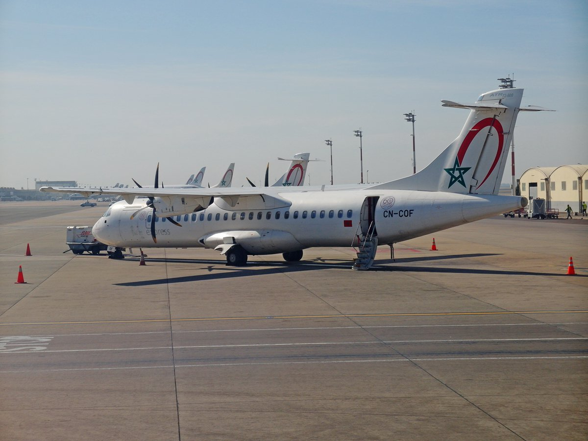 Самолет ATR 72-600 авиакомпании Royal Air Maroc Express