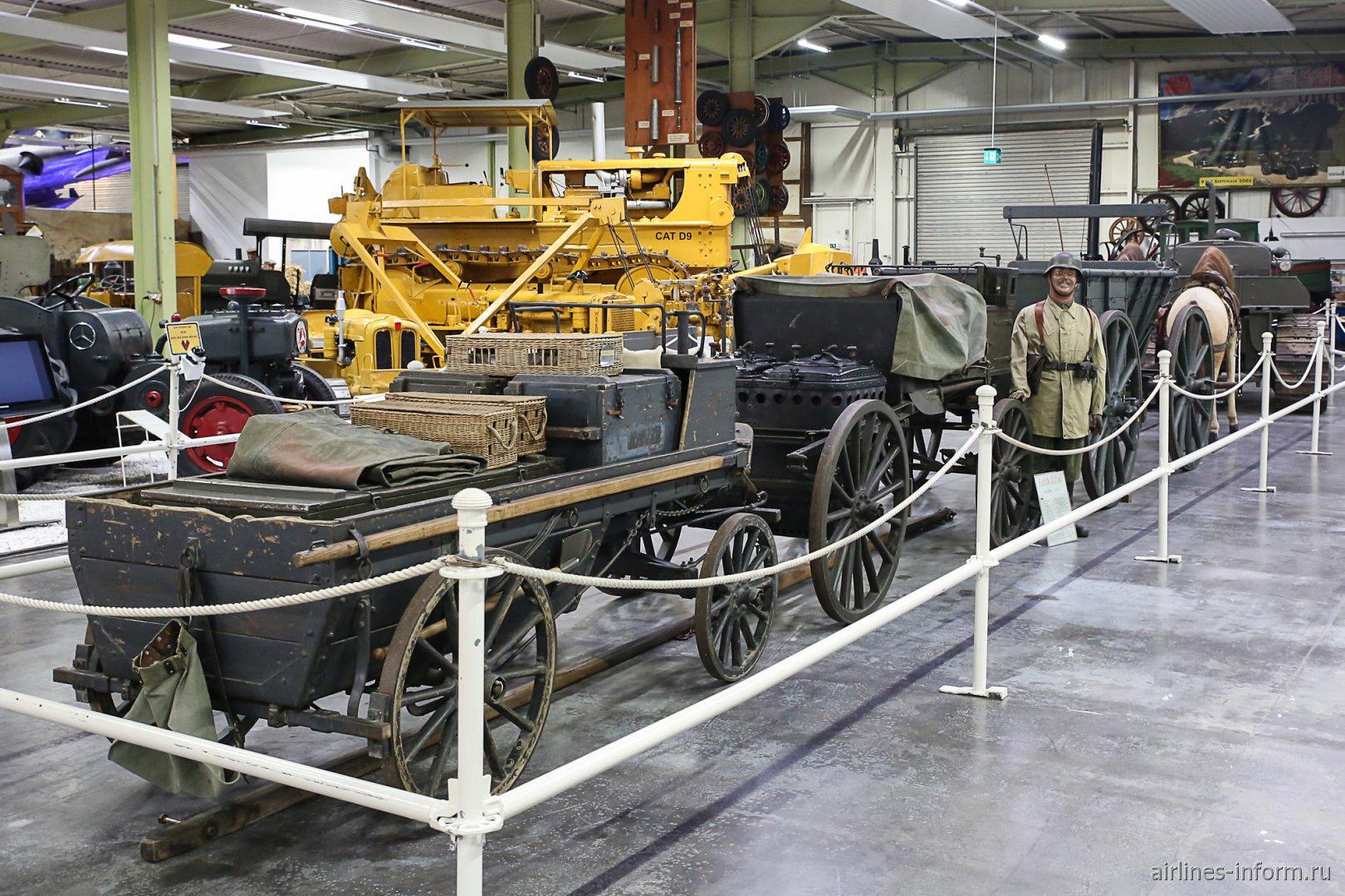 Немецкий армейский обоз в музее техники в Зинсхайме