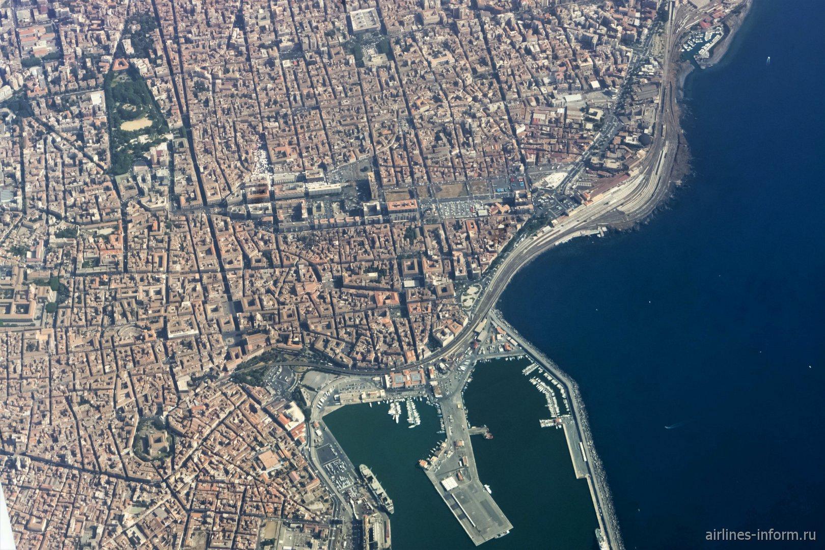 Город Катания в Сицилии