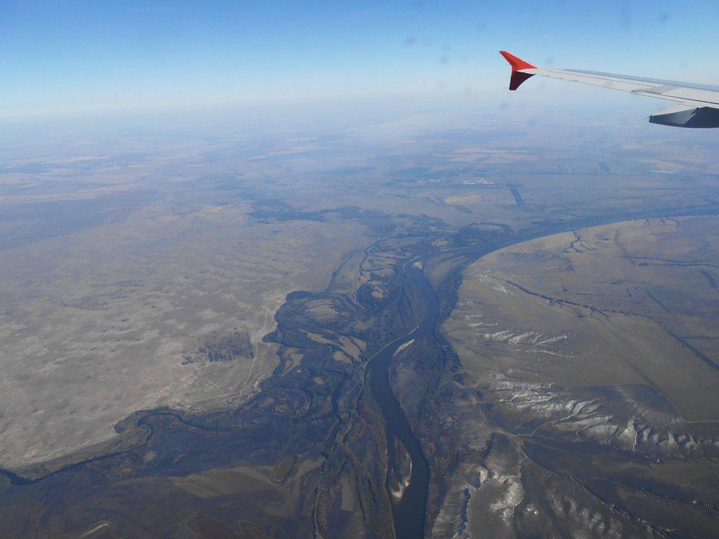 Река Дон на подлете к Волгограду