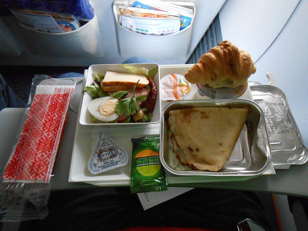Бортпитание на рейсе Аэрофлота Москва-Новосибирск