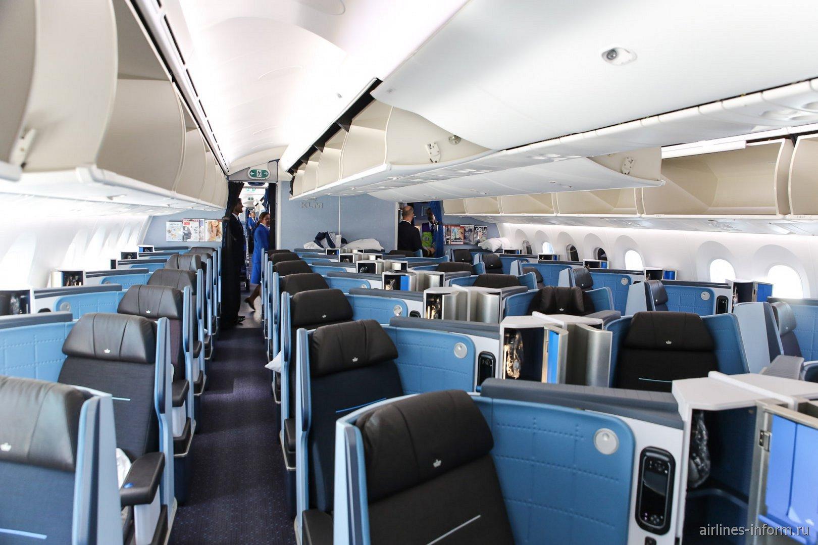 Бизнес-класс в самолете Боинг-787-9 авиакомпании KLM