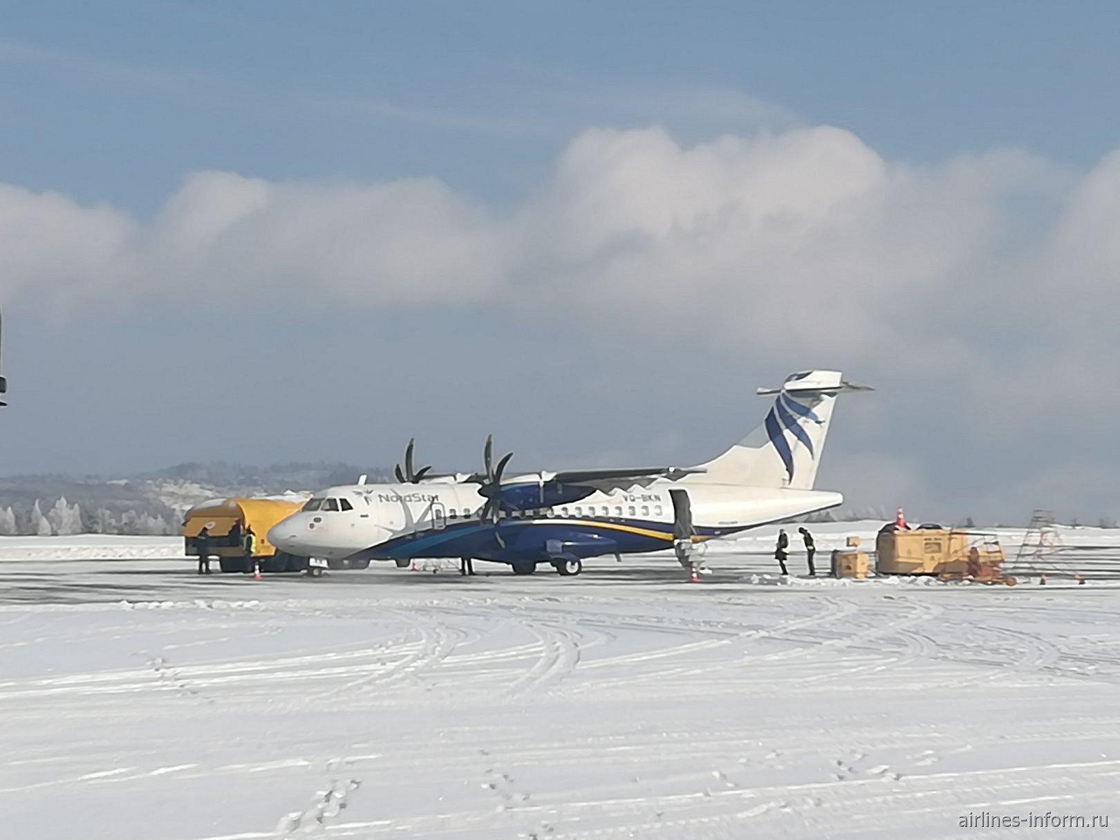 ATR-42-500 авиакомпании Nordstar в аэропорту Братска