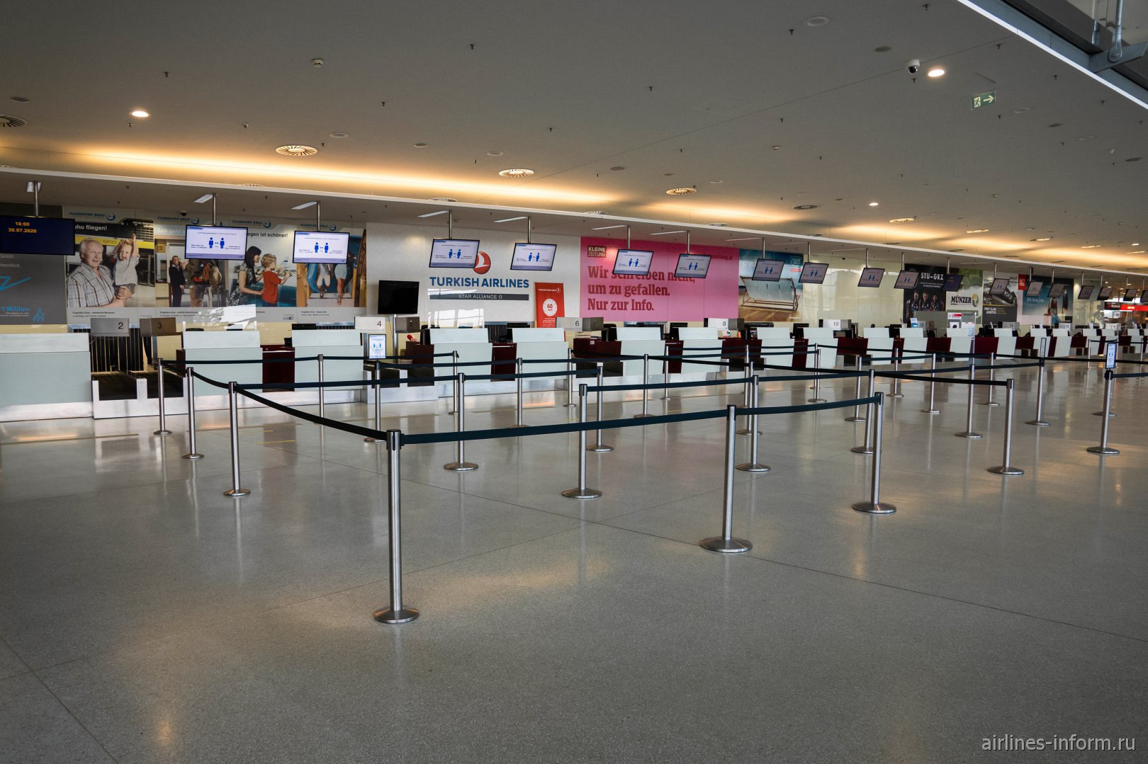 Стойки регистрации в аэропорту Грац Талерхоф