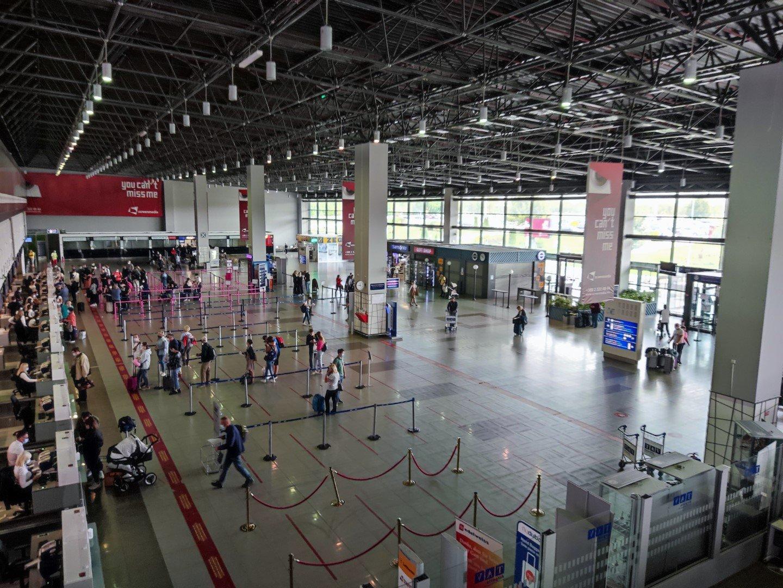 Общий вид пассажирского терминала аэропорта Скопье