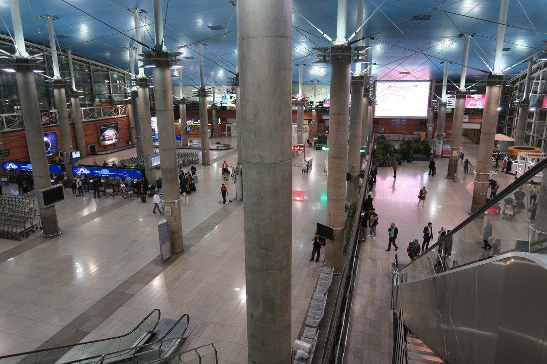 Зона прилета аэропорта Тегеран Имам Хомейни